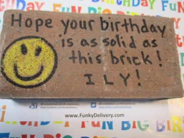 Hope Your Birthday is as Solid as this Brick