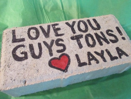 Love You Guys Tons - Mail a Brick