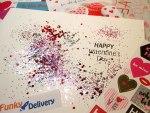 Valentine's Day Glitter Bomb - Valentine Postmarks