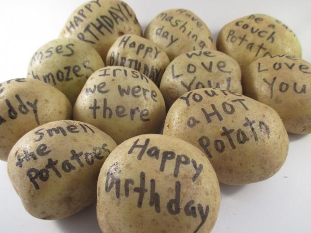 Irish Happy Birthday - Send a Potato Bouquet
