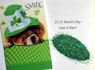 St. Patrick's Day Glitter Bomb Card
