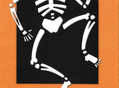 Dancing Skeleton with Pumpkin Card