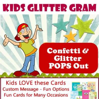 Kids Glitter Gram Card