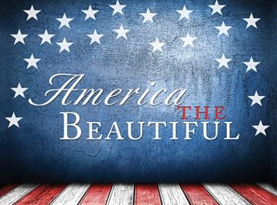 Patriotic American Glitter Bomb Card