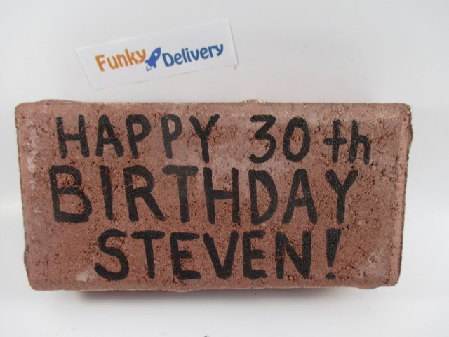 Happy 30th Birthday - Send a Brick in the Mail