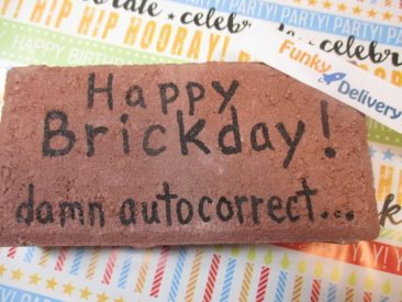 Happy Brickday - Birthday Brick