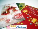 Christmas Card Glitter Bomb from Santa