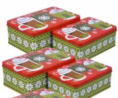 Holiday Tin Cocoa Mugs with Candy - Funky Delivery