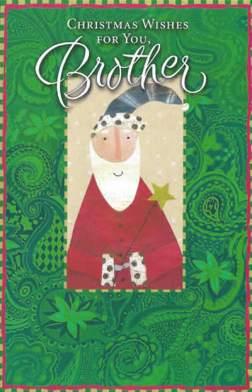 Christmas Wishes for You Brother - Custom Christmas Card