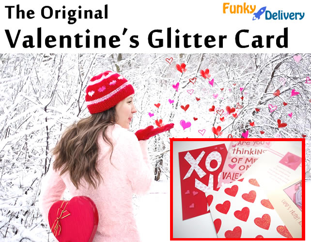 Valentine's Day Cards and Glitter Bomb Cards
