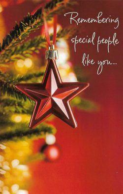 Remembering Special People LIke You - Christmas Holiday Card