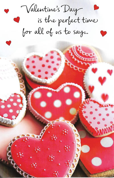Valentine's Day Card from All of Us - Great For Families or Groups