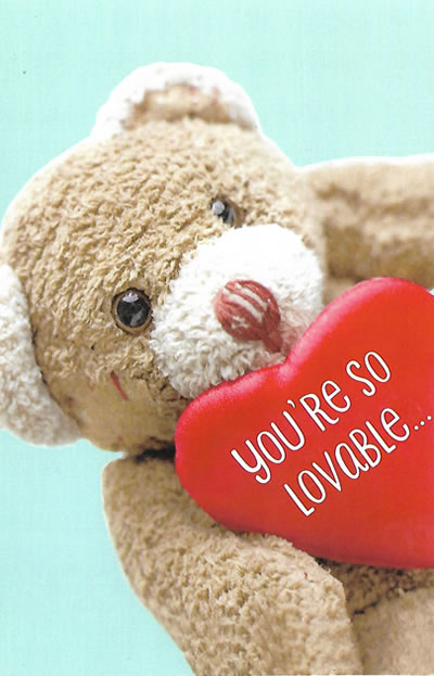 Custom Valentine's Day Card for Sweetheart or Family Member