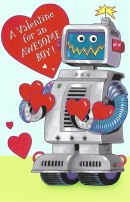 Fun Robot Valentine's Day Card for a Boy - Custom
