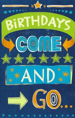 Birthdays Coma and Go Card for a Great Guy - Glitter Bomb Cards for Men