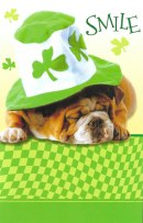 St. Paddy's Day Dog Card - Cute!