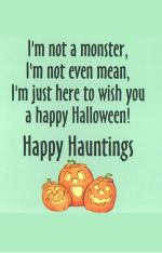 Happy Hauntings Vampire Halloween Card - Inside