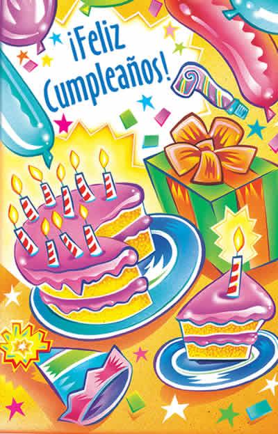Spanish Birthday Glitter Bomb Card