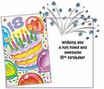 18th Birthday Confetti Card - Fun