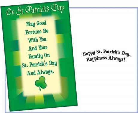 St. Patrick's Day Good Fortune Card for Family