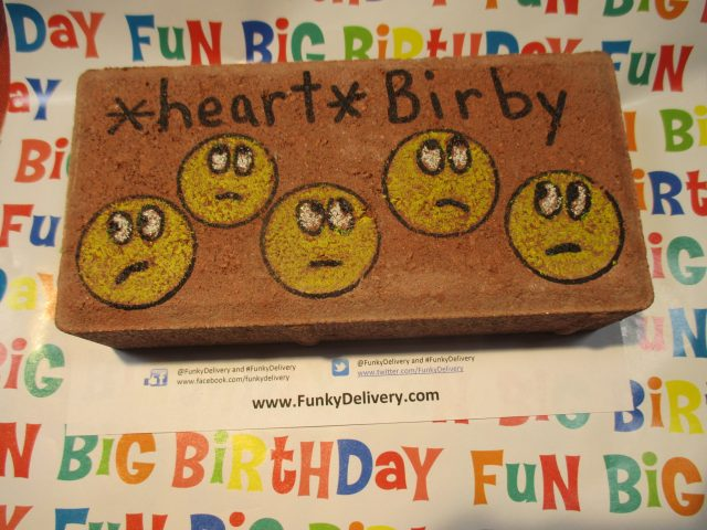 Emoji's on a brick - Funky Delivery Brick