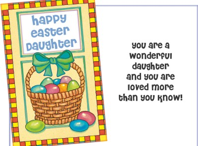 Happy Easter Daughter - Custom Easter Card