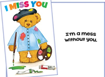 I Miss You - I'm a Mess Without You - Card Sent for You