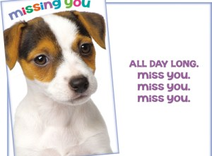 Missing You - All Day Long. Miss You greeting card.