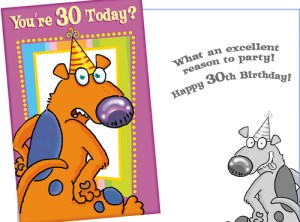 30th Birthday Card - Fun Card for 30th Birthday