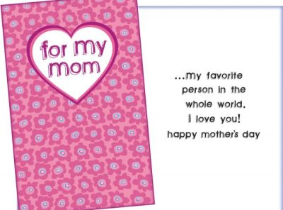 Favorite Person in the World - Mother's Day Card