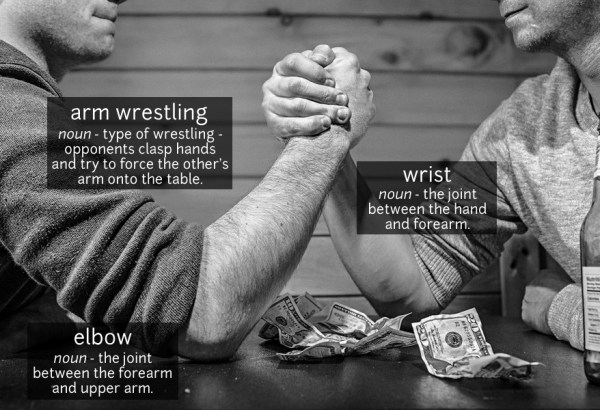 arm wrestling vocabulary
