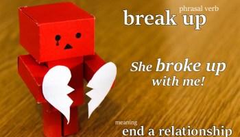 break up phrasal verb
