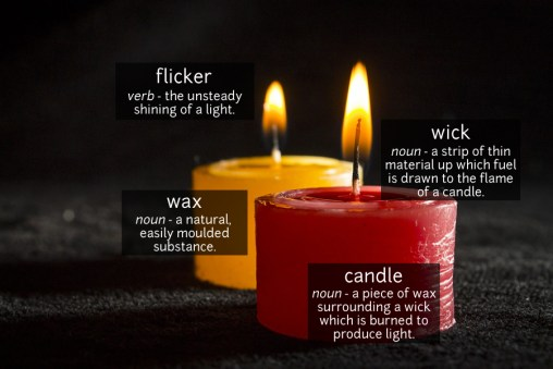 candle vocabulary