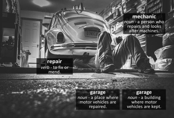 garage vocabulary