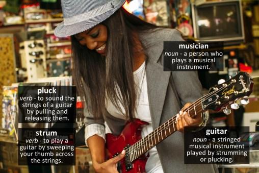 guitar vocabulary
