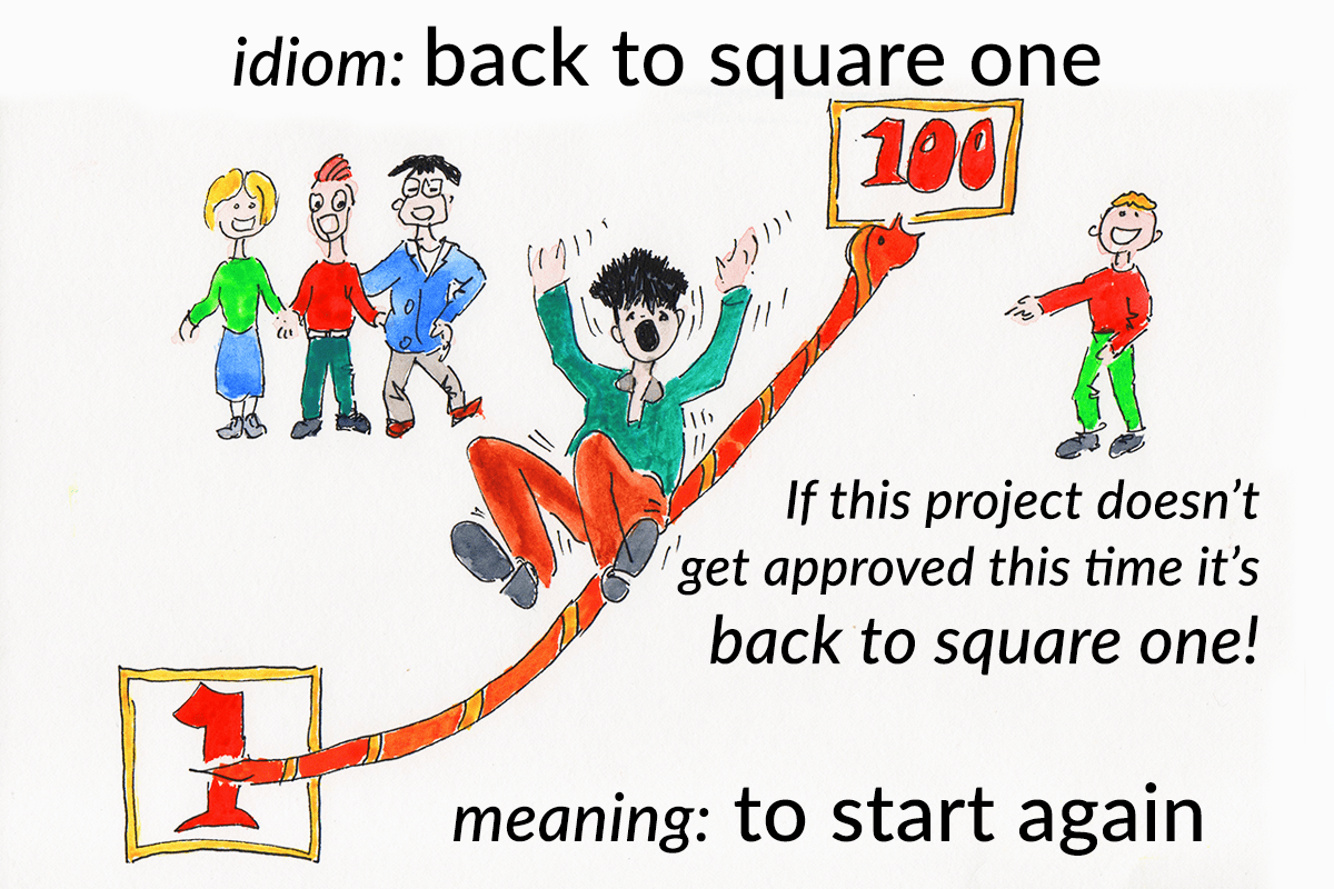 Idiom Back To Square One Funky English