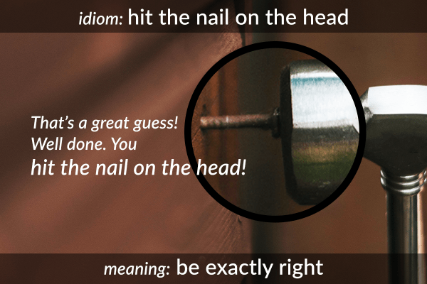idiom nail on the head