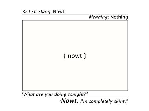 nowt slang