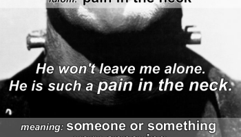 pain in the neck idiom
