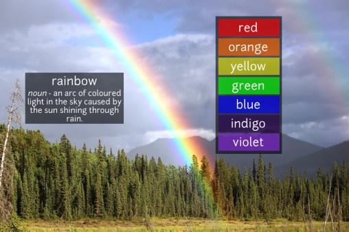 rainbow vocabulary
