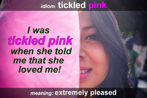 tickled pink idiom