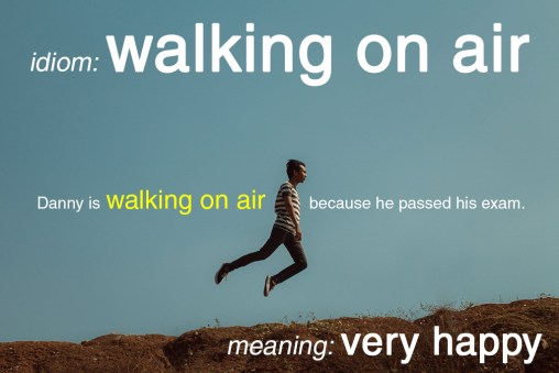 walking on air idiom