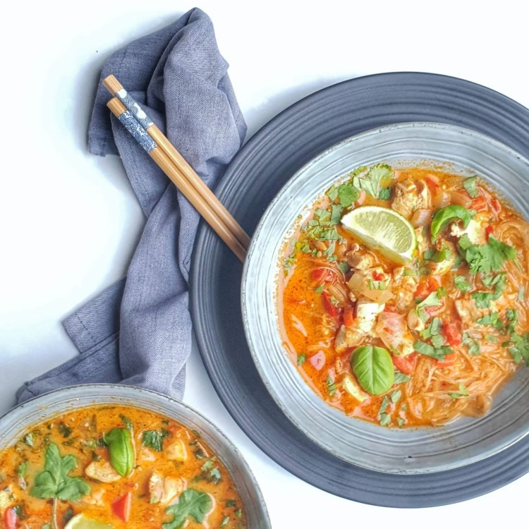 Thaise rode curry soep
