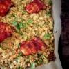 Sticky harissakip met couscous