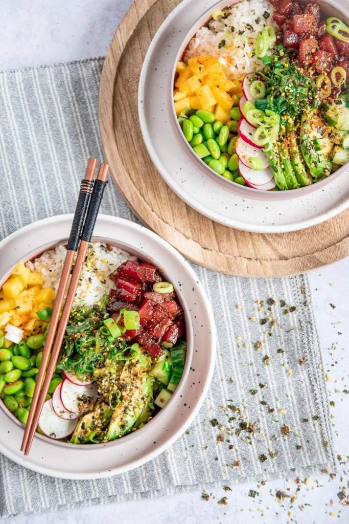 Poké Bowl met gemarineerde tonijn