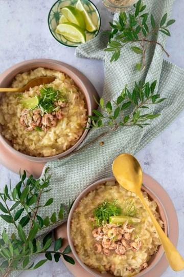 Recept Venkelrisotto met Hollandse garnalen