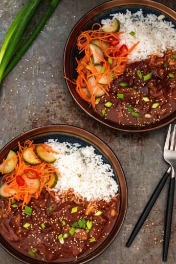 Koreaans stoofvlees uit de slowcooker