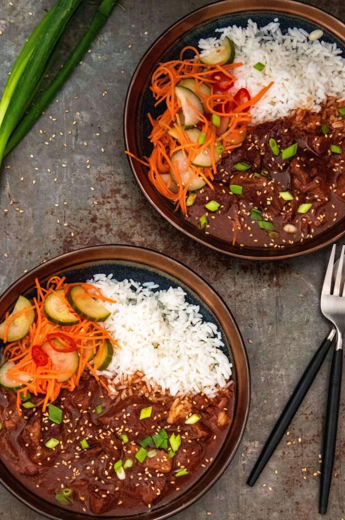 Koreaans rundvlees uit de slowcooker