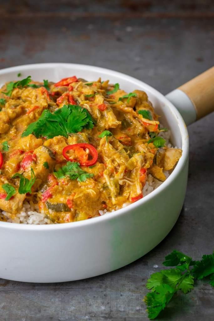 Gele curry met kip uit de slowcooker