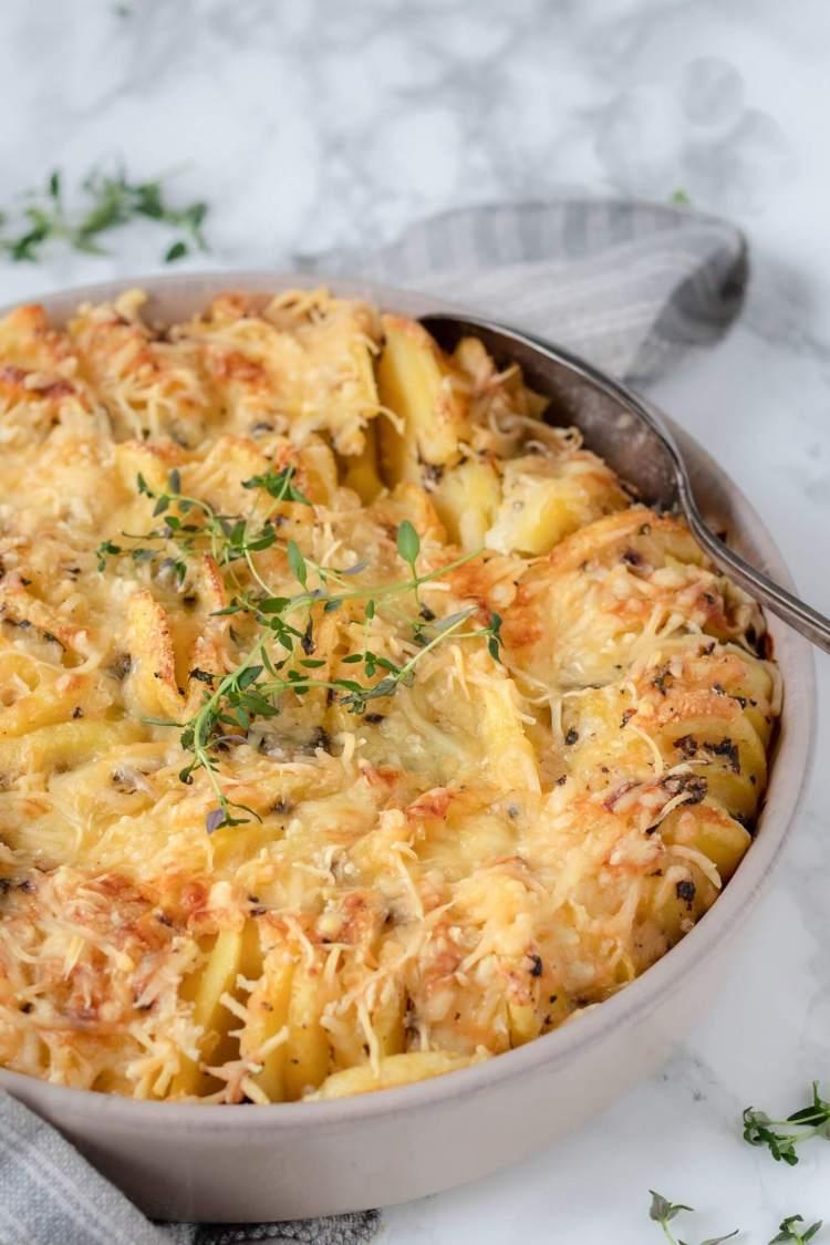 Recept voor aardappelgratin met truffelroom bijgerecht
